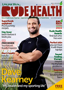The Rude Health Magazine front cover