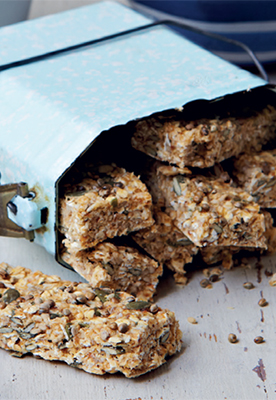 A photo of raw hemp granola bars