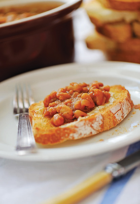 A photo of homemade beans on toast
