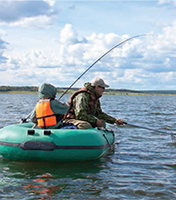 A photo of some anglers in a boat