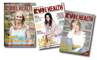 Covers of Rude Health Magazine